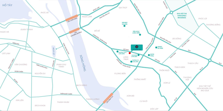 vị trí dự án chung cư eco smart city long biên