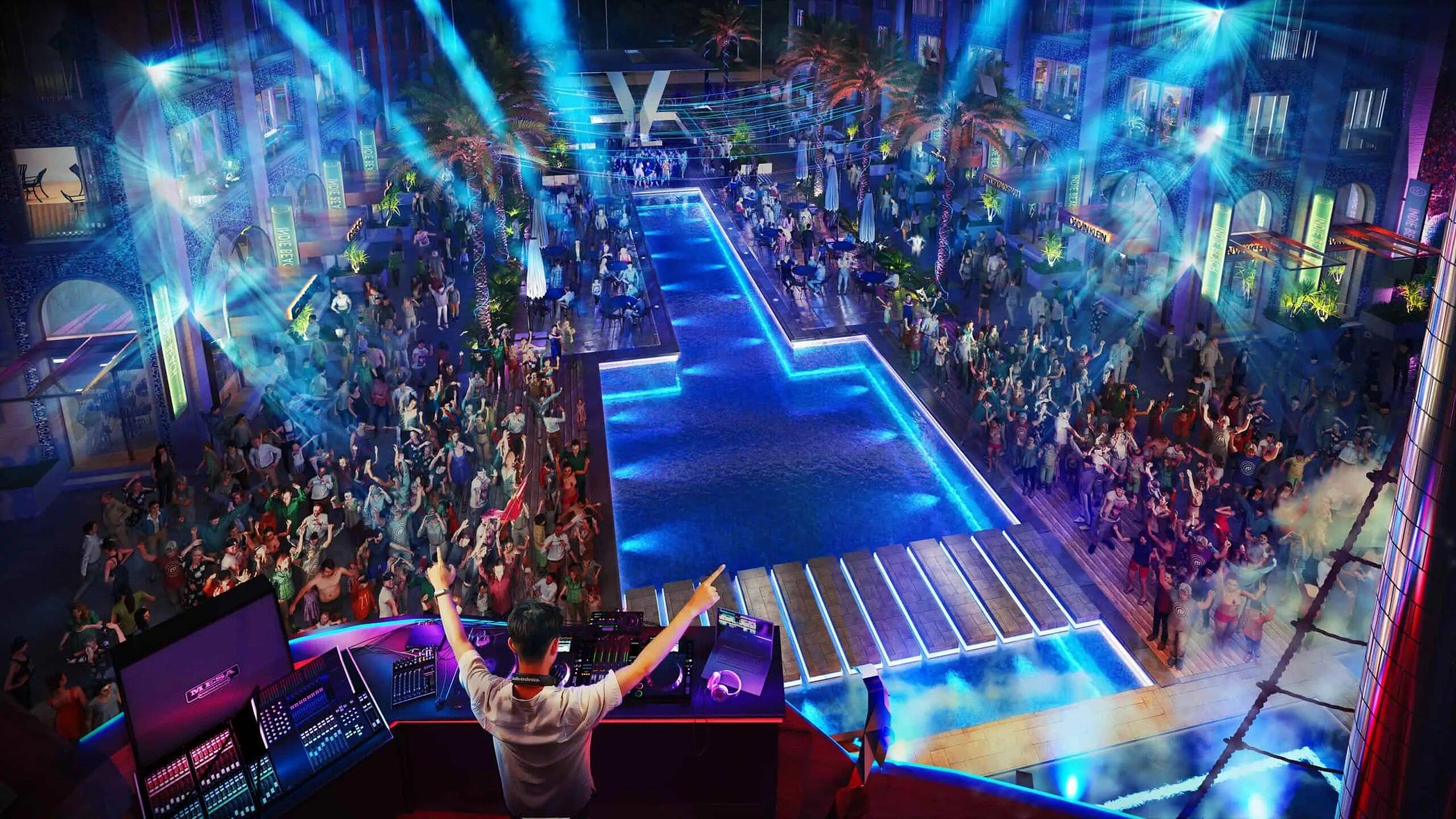 Lễ hội festival tại đại lộ danh vọng phân khu Europe Vega City Bãi Tiên Nha Trang