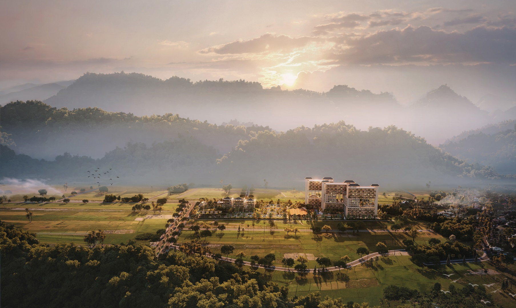 phối cảnh dự án apec mandala sky villas kim bôi