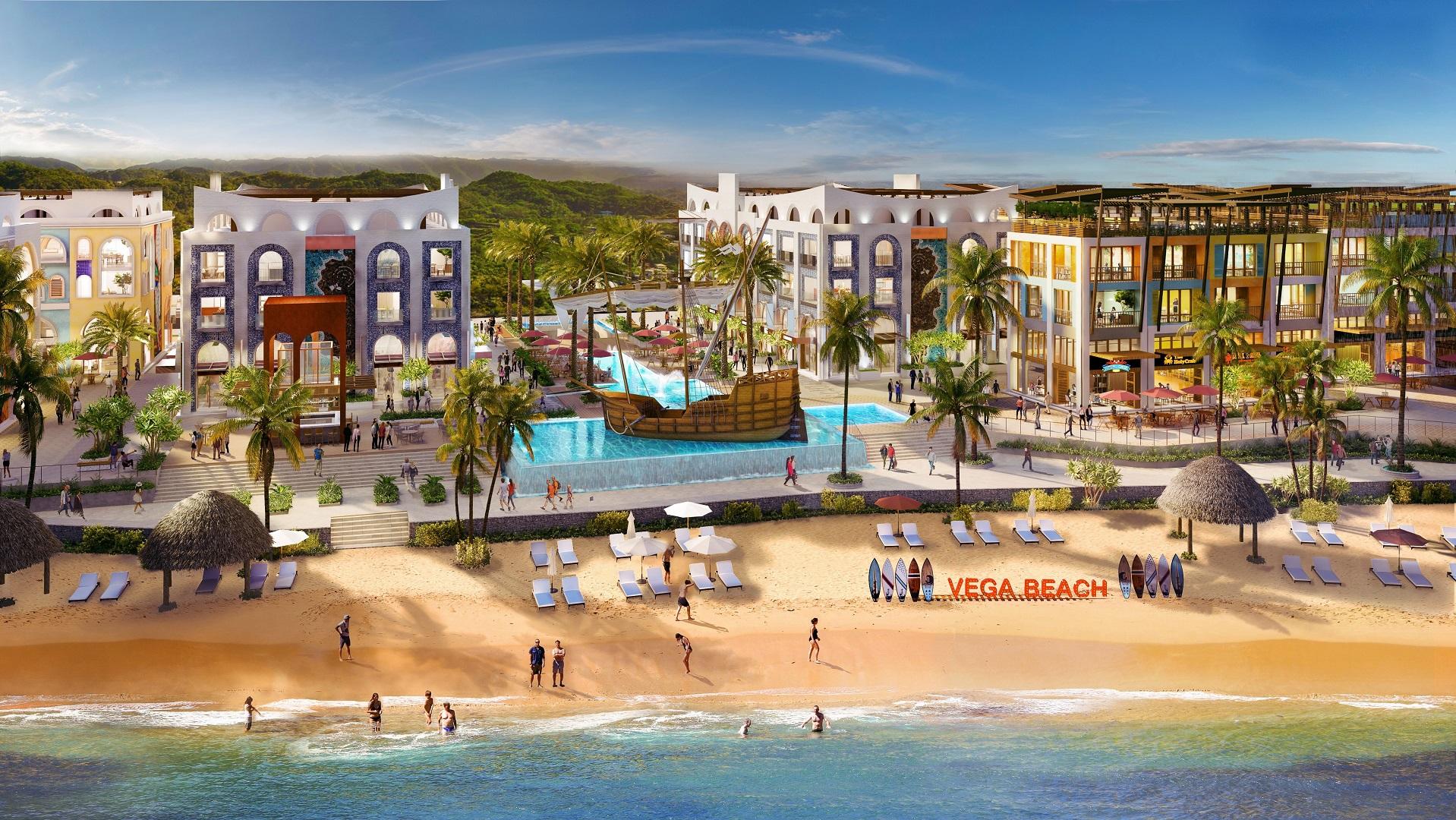 bãi biển vega city nha trang