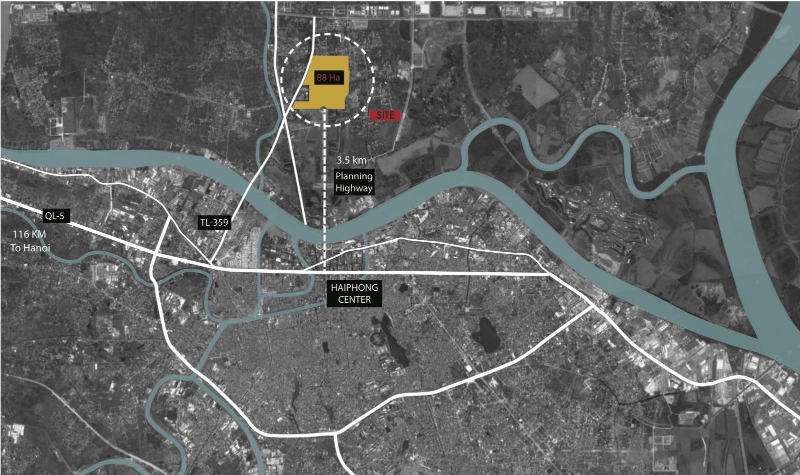 vị trí dự án hoàng huy new city thủy nguyên hải phòng