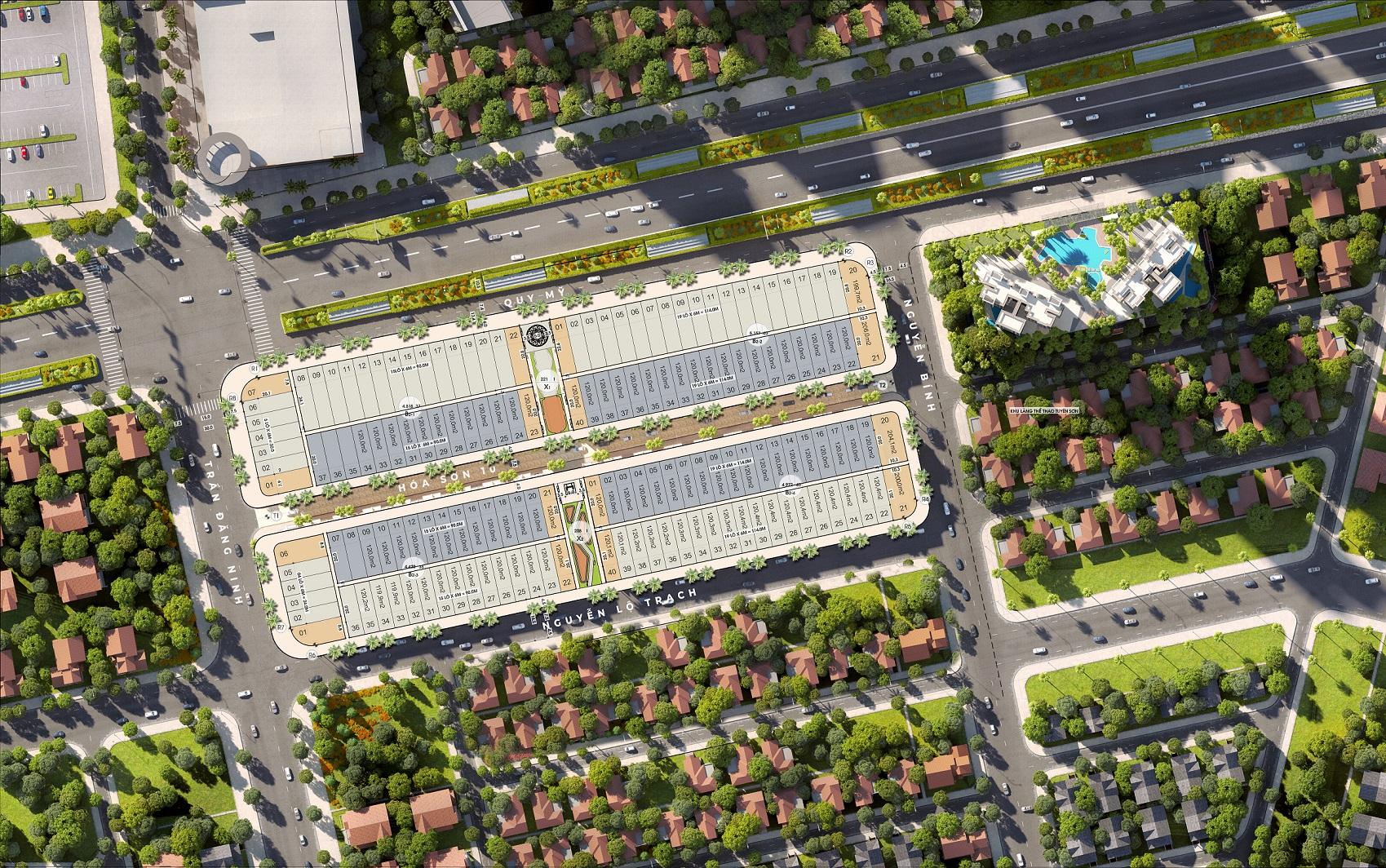Mặt bằng phân lô dự án Regal Pavillon Da Nang
