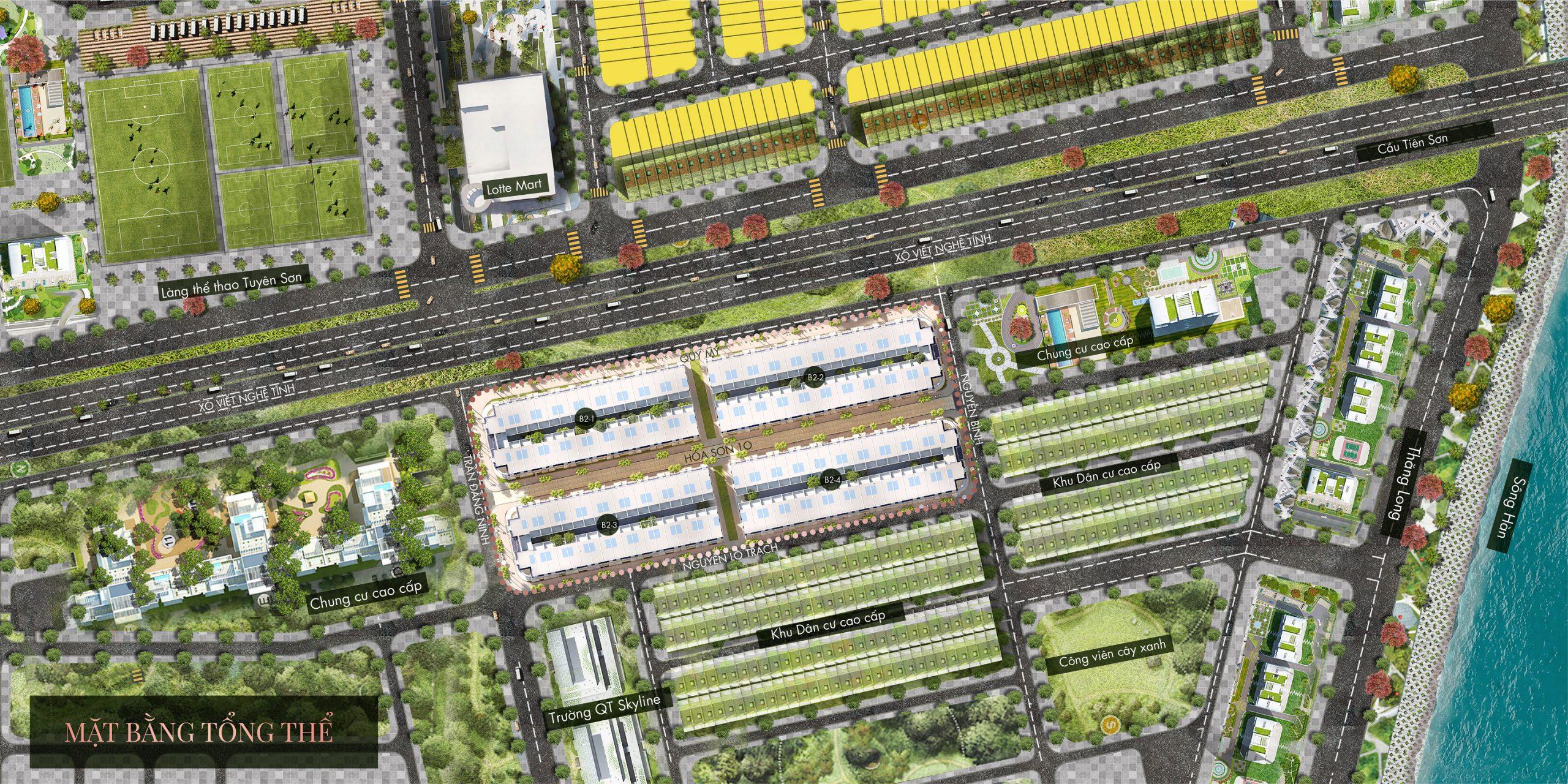 Mặt bằng tổng thể dự án Regal Pavillon Đà Nẵng