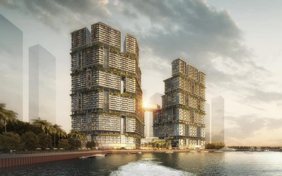 phối cảnh dự án Sun Grand Marina Town bãi cháy