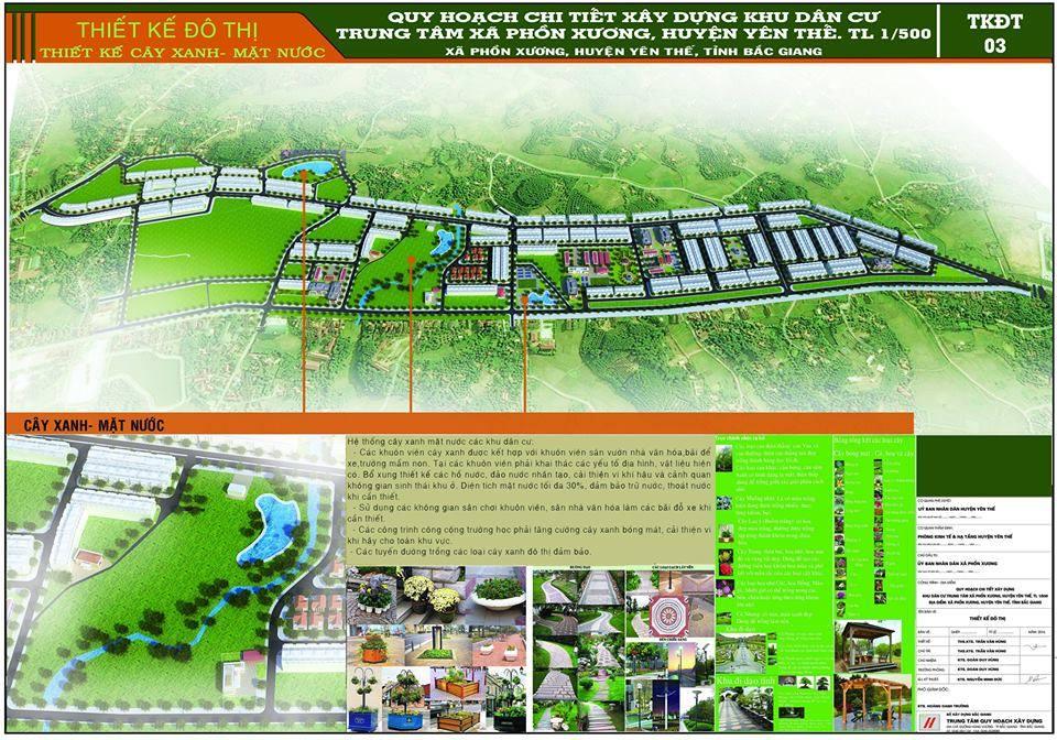 vị trí dự án phồn xương central park yên thế bắc giang
