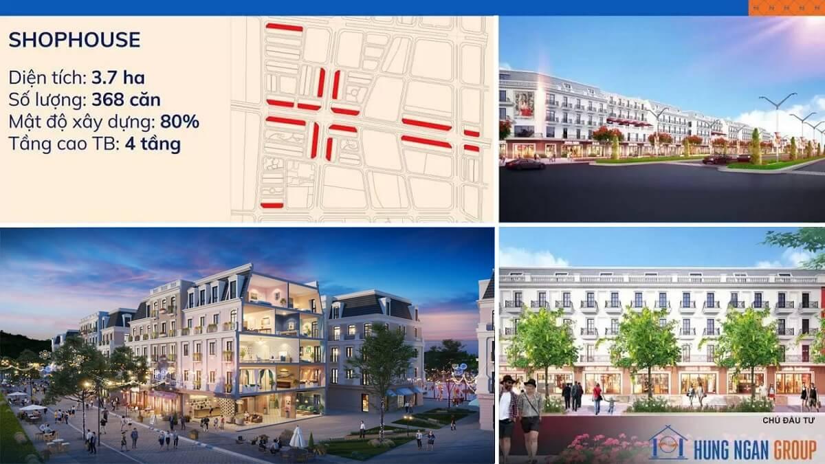 shophouse dự án khu đô thị kim đô yên phong bắc ninh