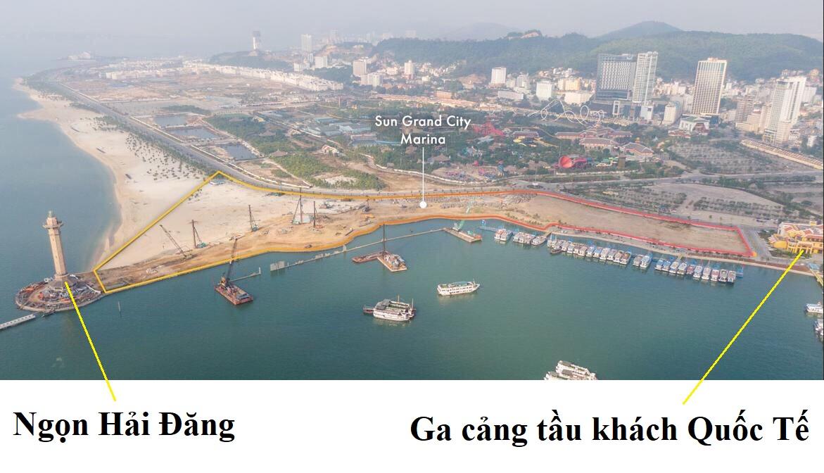 vị trí dự án Sun Grand Marina Town bãi cháy hạ long