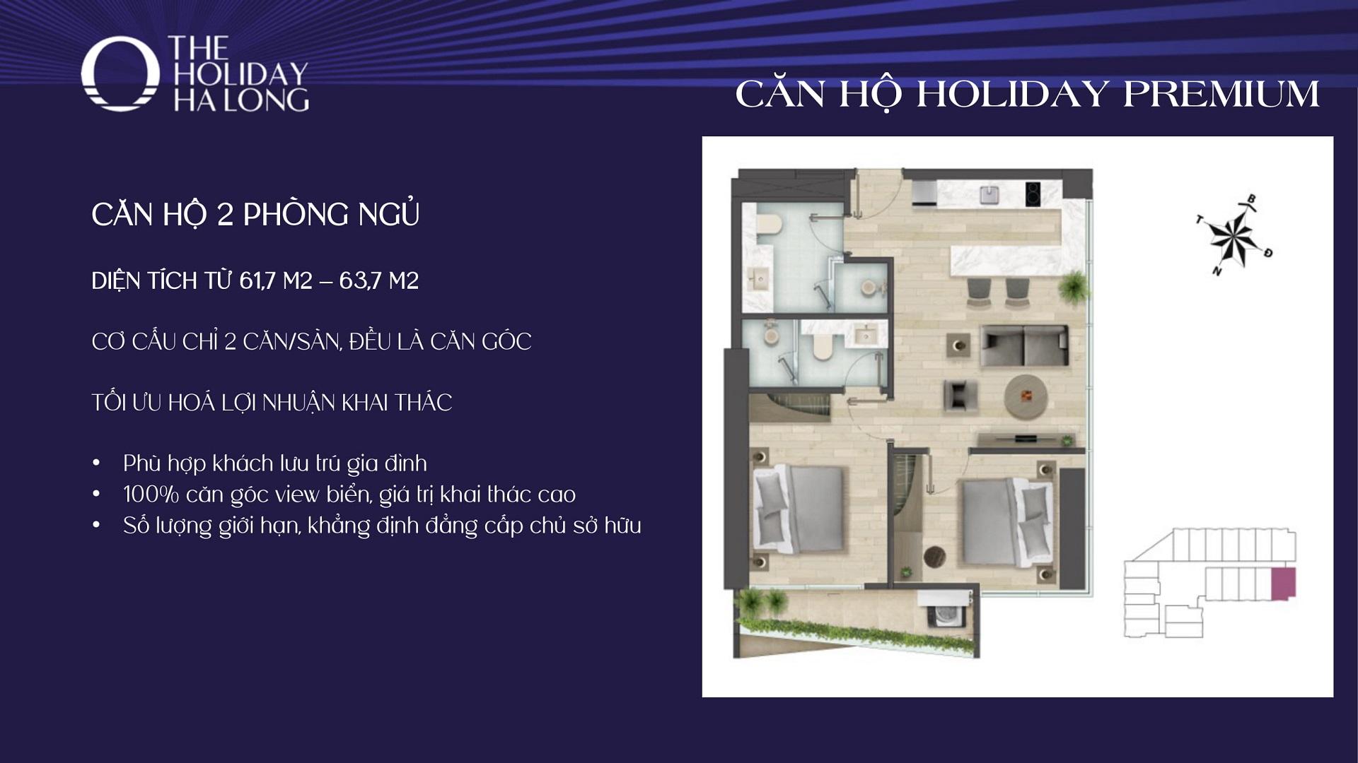 thiết kế căn hộ the holiday hạ long 2