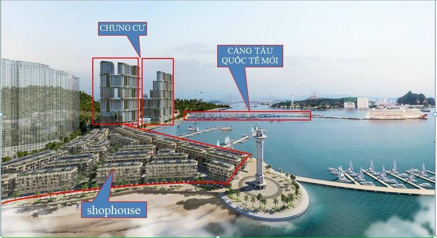 mặt bằng tổng thể dự án Sun Grand Marina Town hạ long