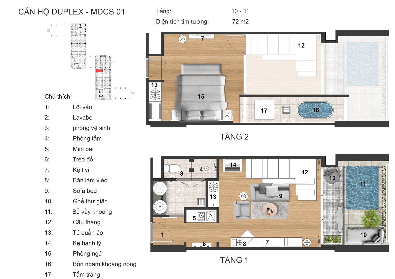thiết kế căn hộ highland park sky villas