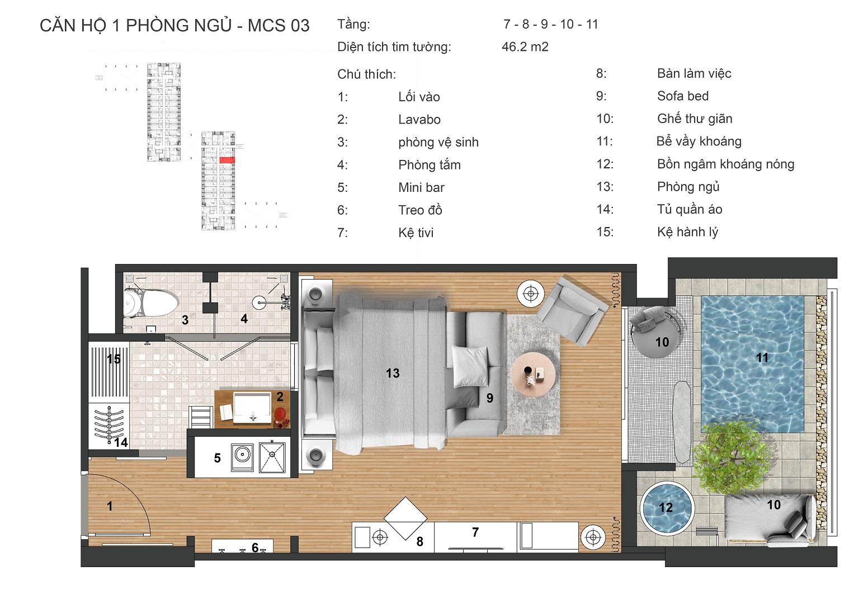 thiết kế căn hộ maccalan mineral villas