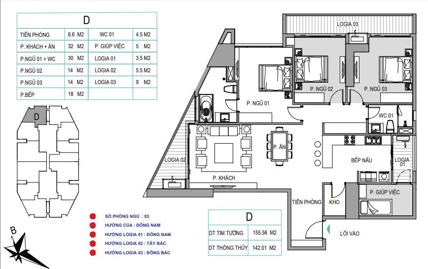thiết kế căn hộ d