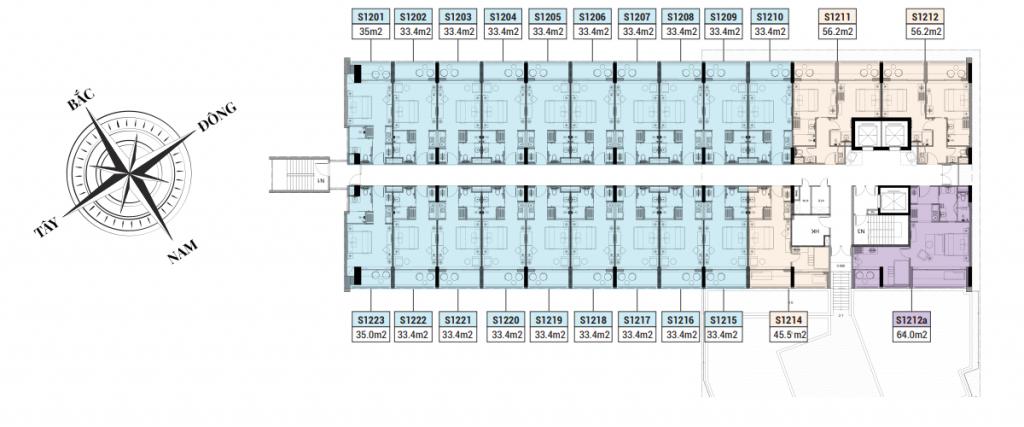mặt bằng chi tiết dự án apec mandala sky villas kim bôi hòa bình