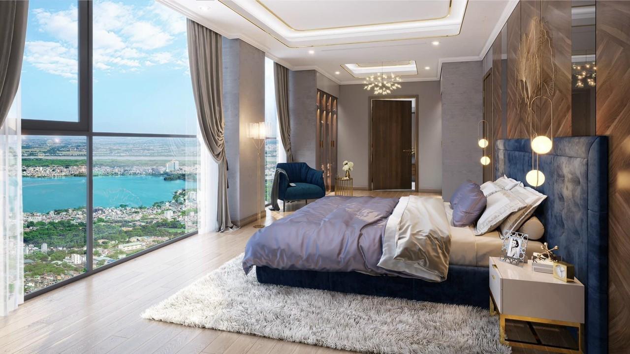 nội thất phòng ngủ căn hộ discovery skyline