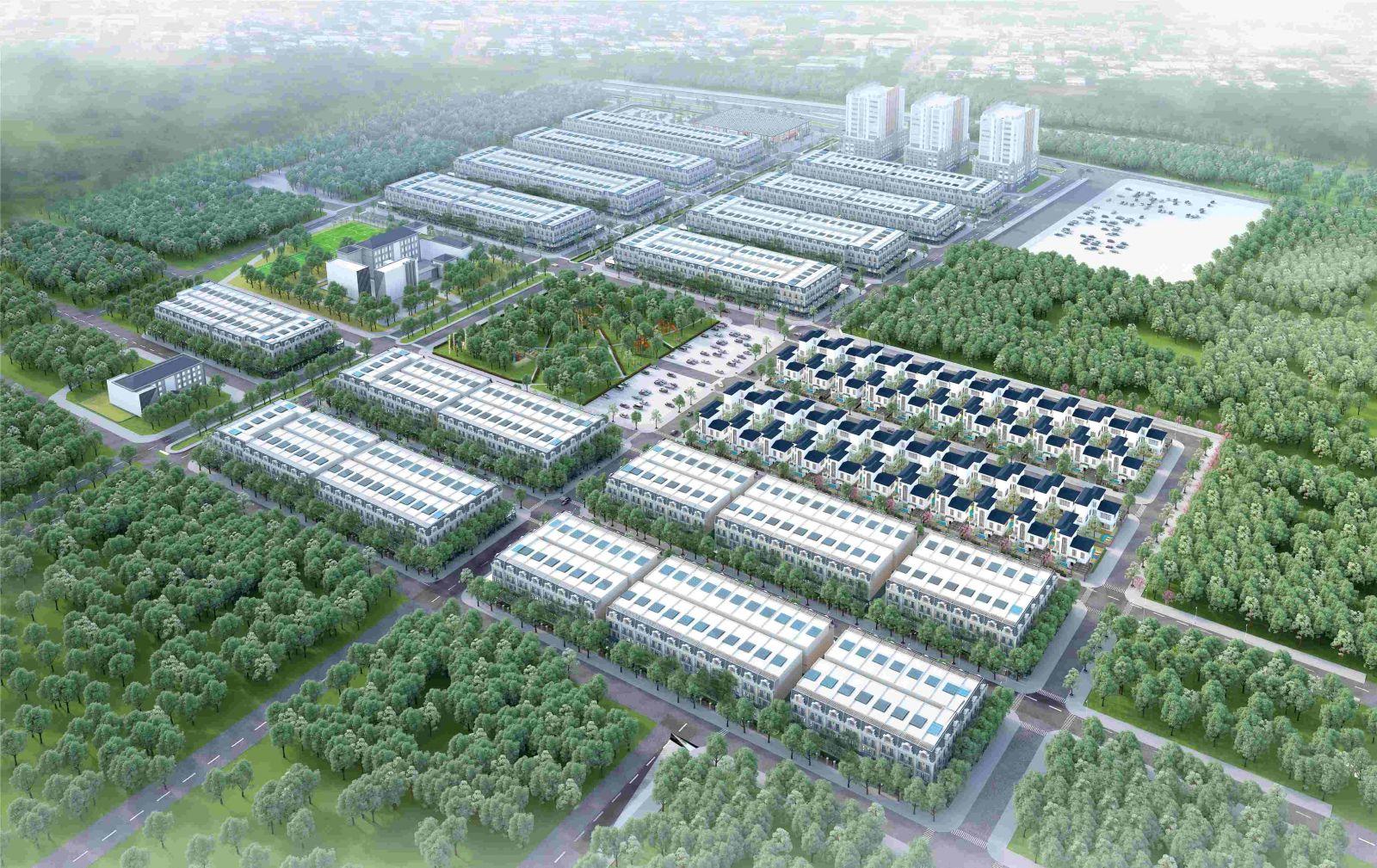 phối cảnh dự án uông bí new city