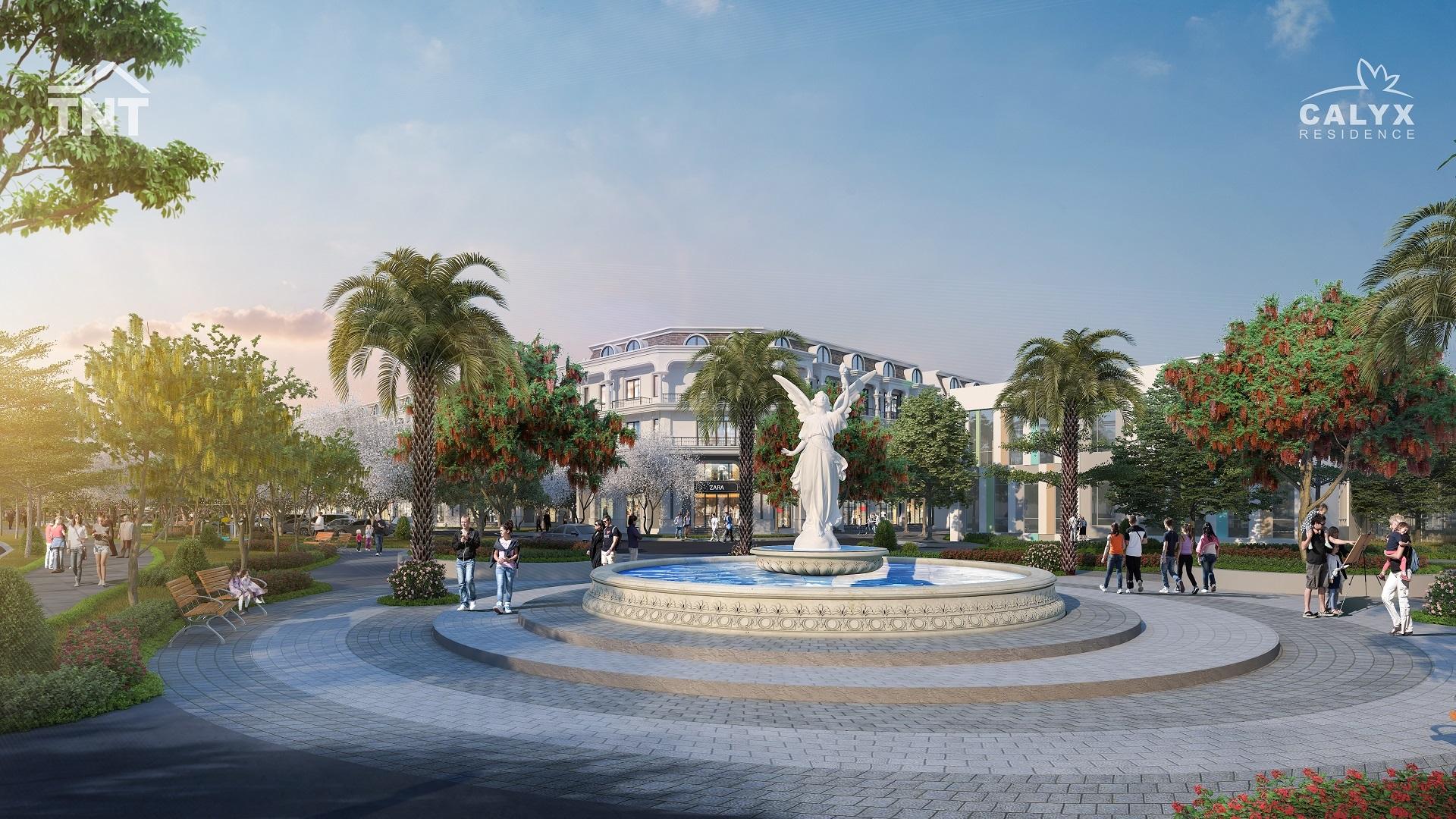 quảng trường dự án calyx residence