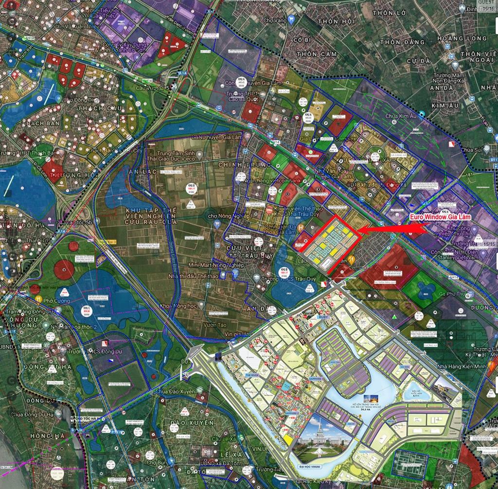 quy hoạch dự án eurowindow twin parks trâu quỳ gia lâm