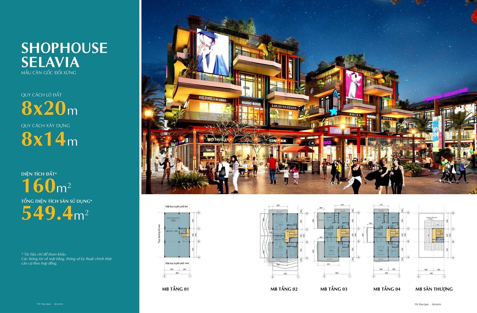 thiết kế shophouse selavia phú quốc mẫu 1