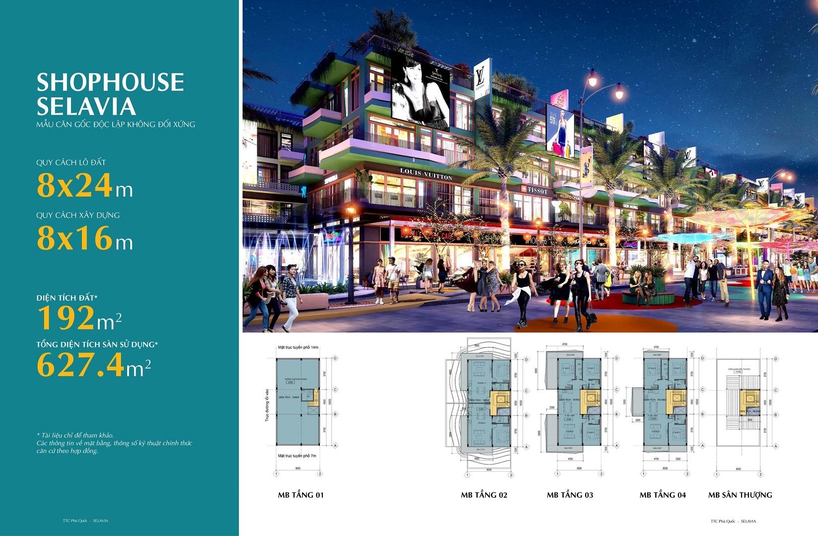 thiết kế shophouse selavia phú quốc mẫu 2