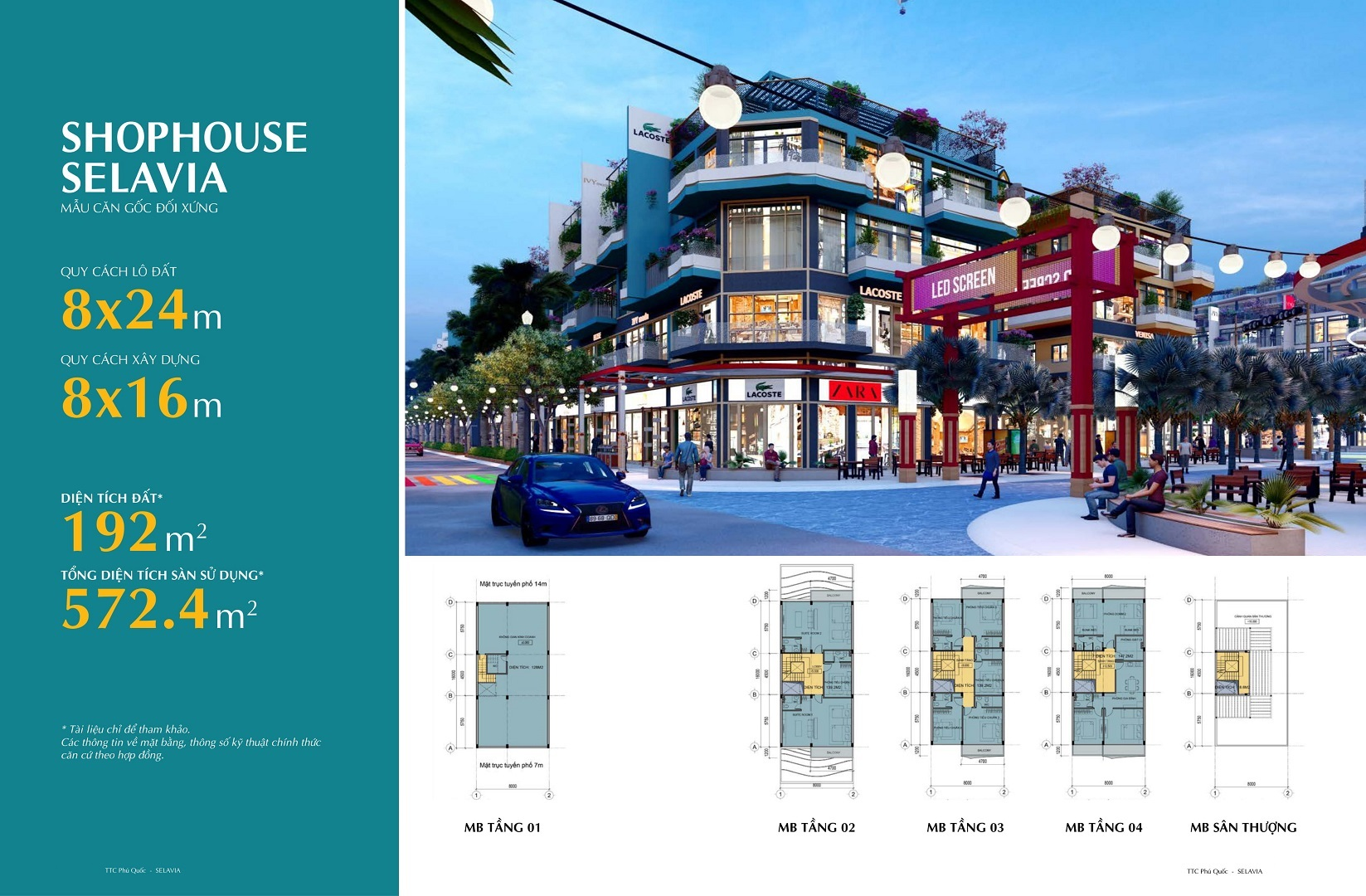 thiết kế shophouse selavia phú quốc mẫu 3