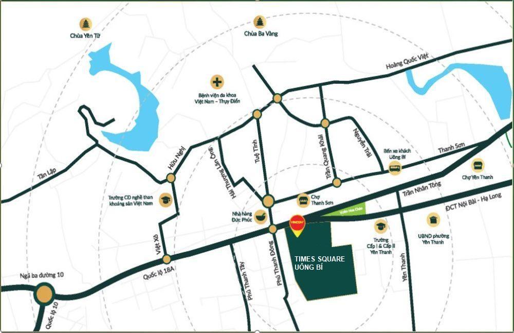 vị trí dự án times square uông bí