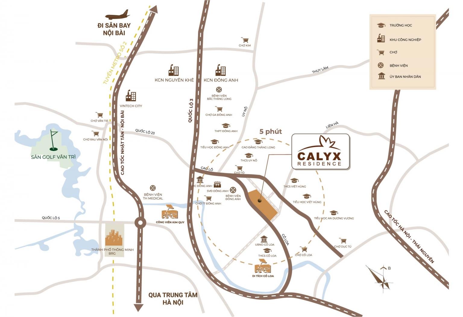 vị trí dự án calyx residence 319 đông anh uy nỗ