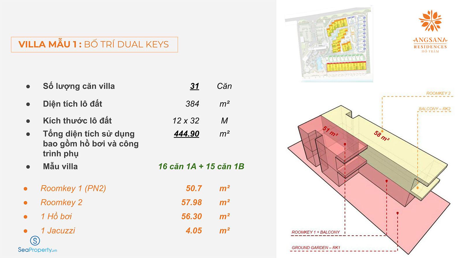 biệt thự angsana residences hồ tràm dual keys