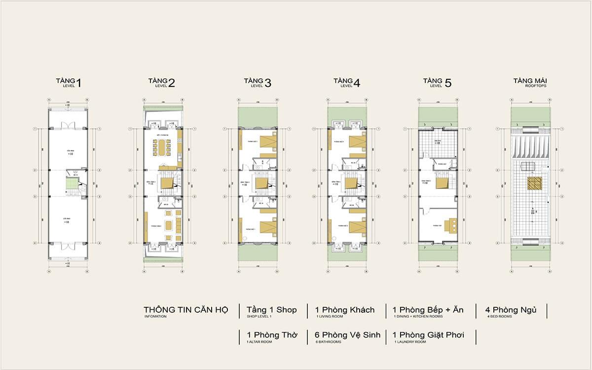 thiết kế shophouse louis city trịnh văn bô