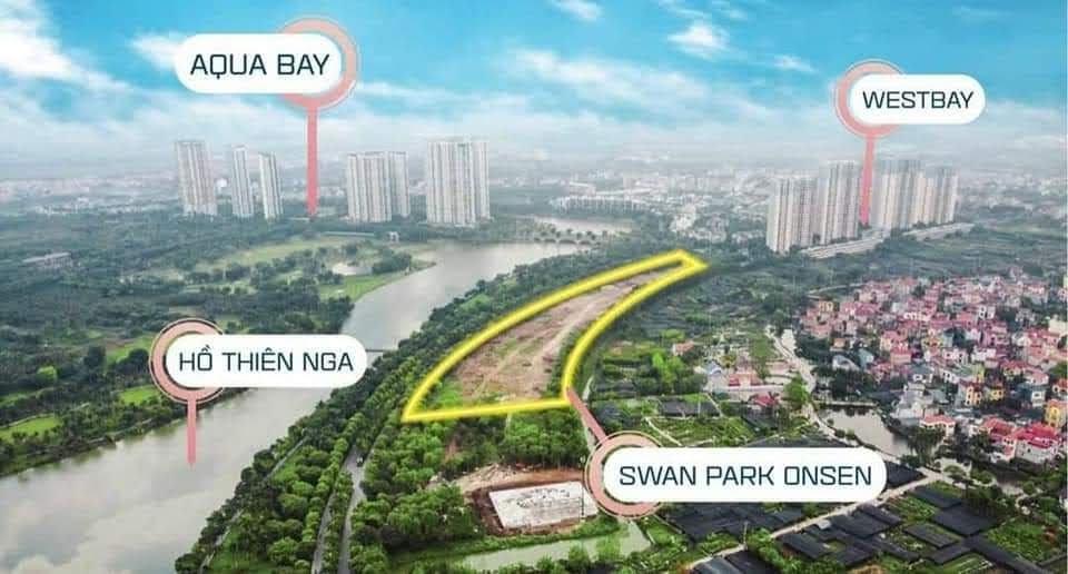vị trí dự án swan lake onsen residences ecopark
