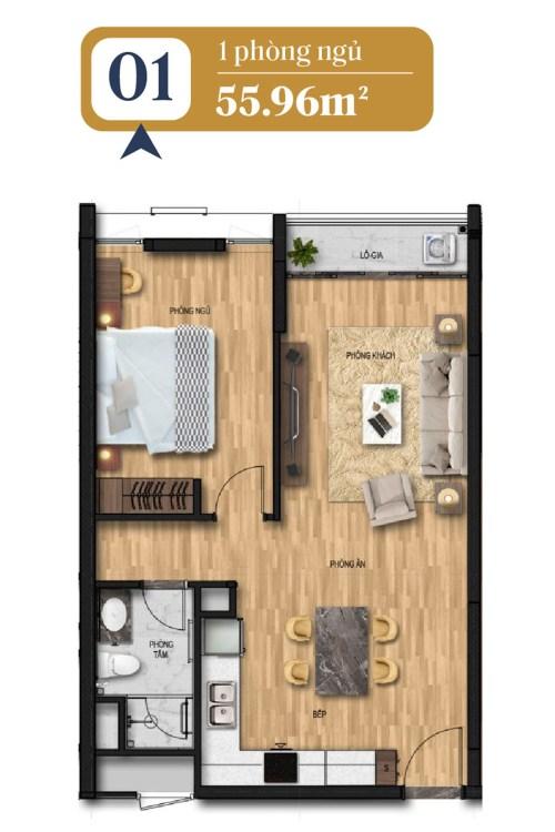 thiết kế căn hộ brg láng hạ 1