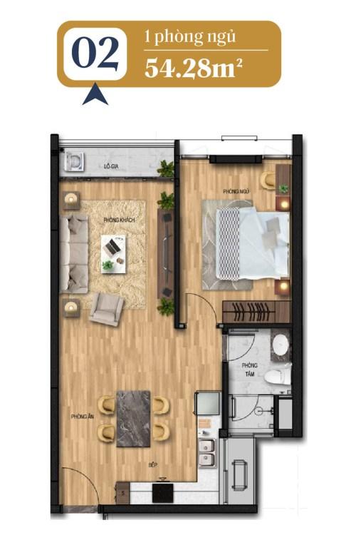 thiết kế căn hộ brg láng hạ 2