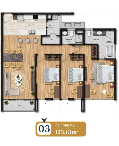 thiết kế căn hộ brg láng hạ 3