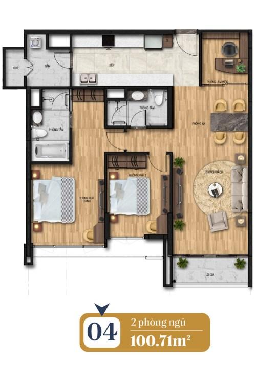 thiết kế căn hộ brg láng hạ 4