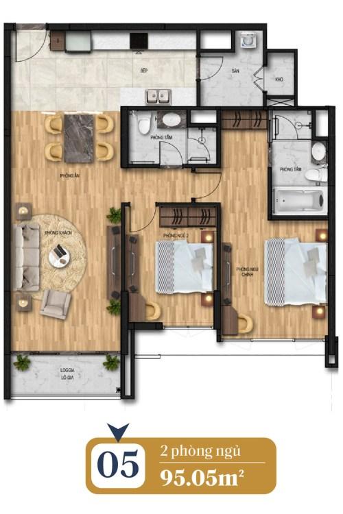 thiết kế căn hộ brg láng hạ 5