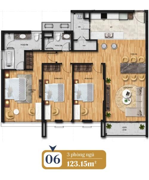 thiết kế căn hộ brg láng hạ