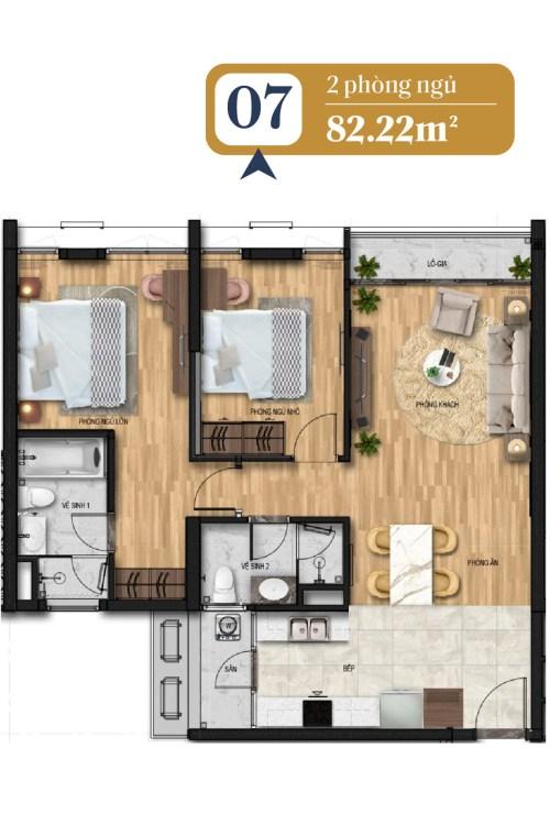 thiết kế căn hộ brg láng hạ 7