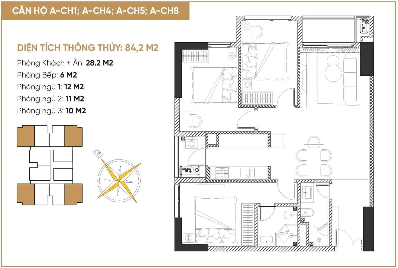 thiết kế căn hộ diamond hill bắc giang 1