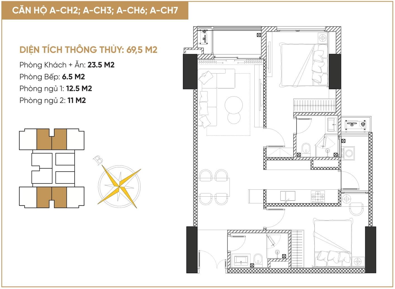 thiết kế căn hộ diamond hill bắc giang 2