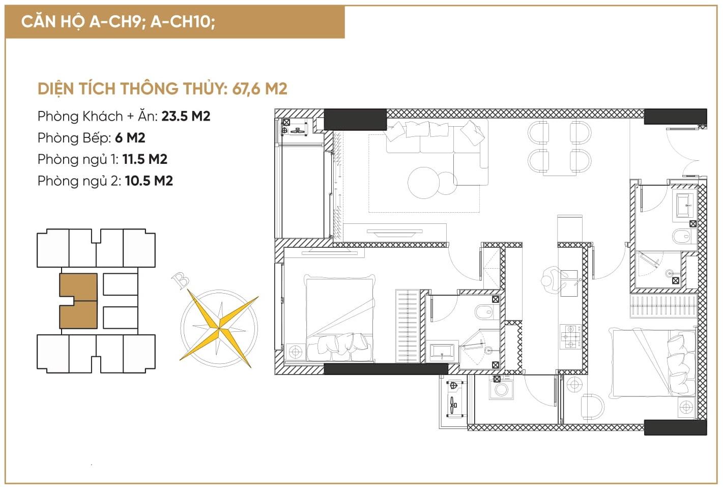 thiết kế căn hộ diamond hill bắc giang 3