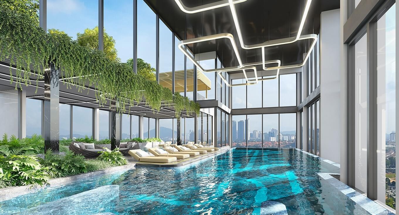 tiện ích bể bơi dự án masteri west heights tây mỗ