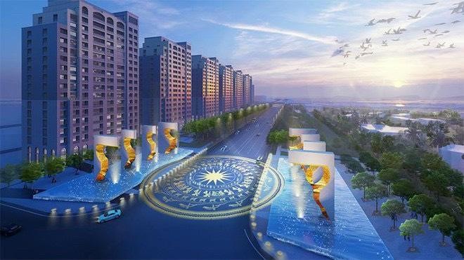 trục đại lộ dự án sun grand boulevard sầm sơn