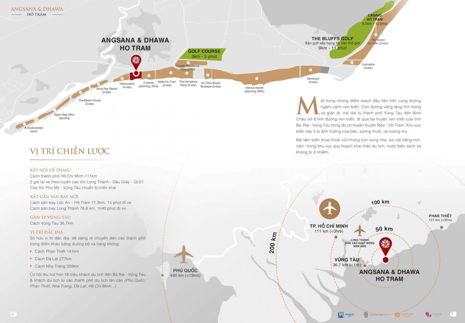 vị trí dự án angsana residences hồ tràm