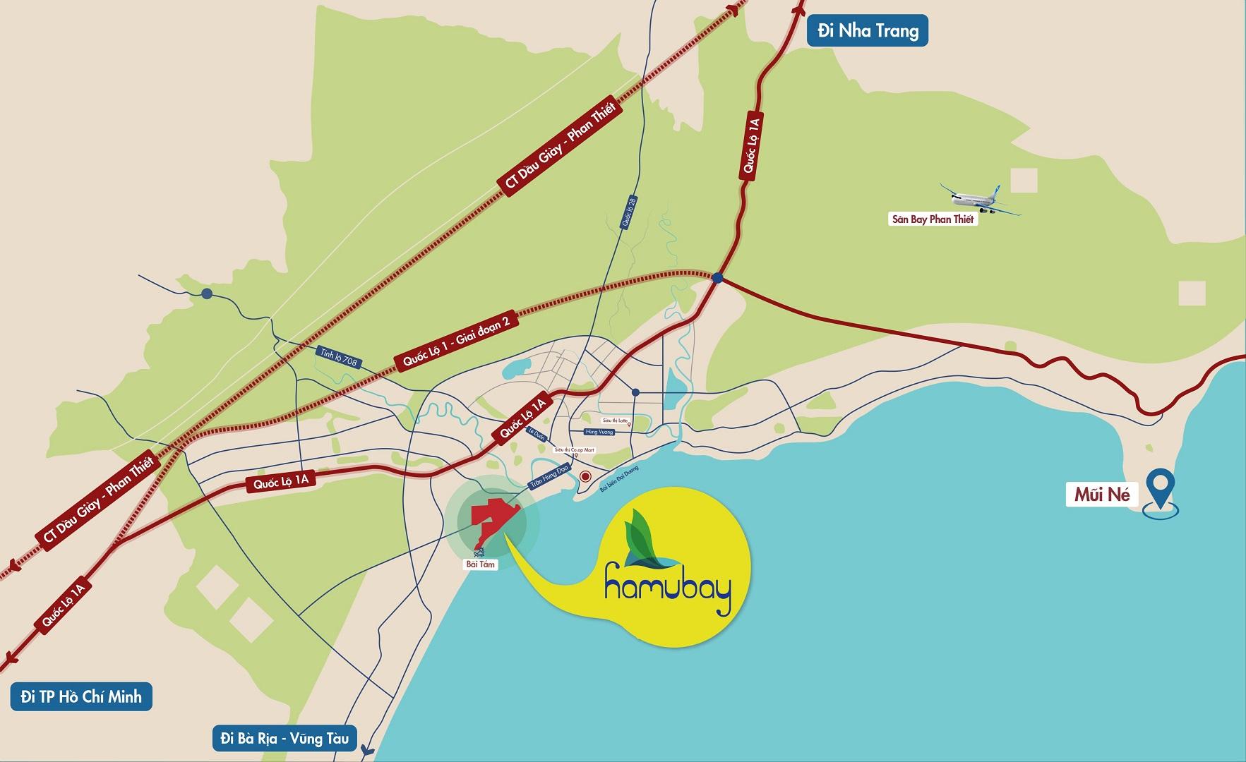 vị trí dự án khu đô thị hamubay phan thiết