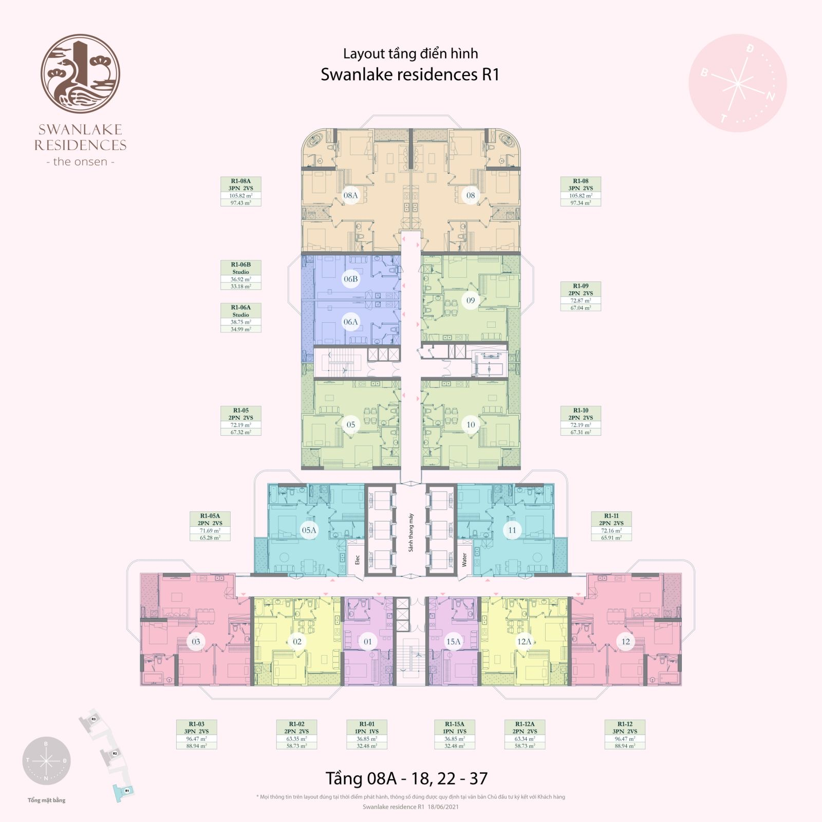 mặt bằng dự án swan lake residences the onsen ecopark
