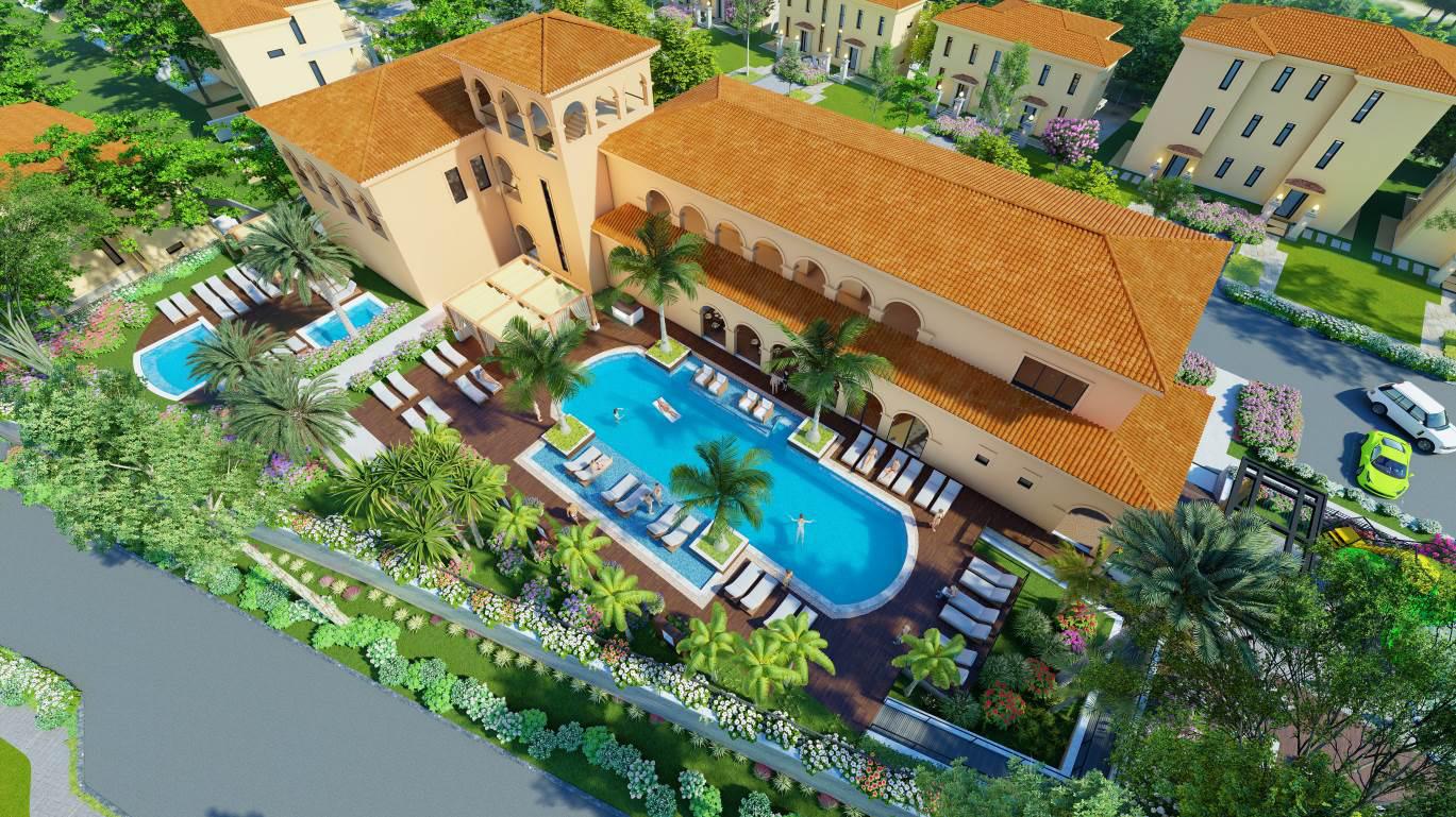 bể bơi dự án wyndham sky lake resort villas chương mỹ hà nội