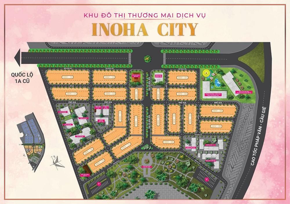mặt bằng dự án inoha city phú xuyên hà nội