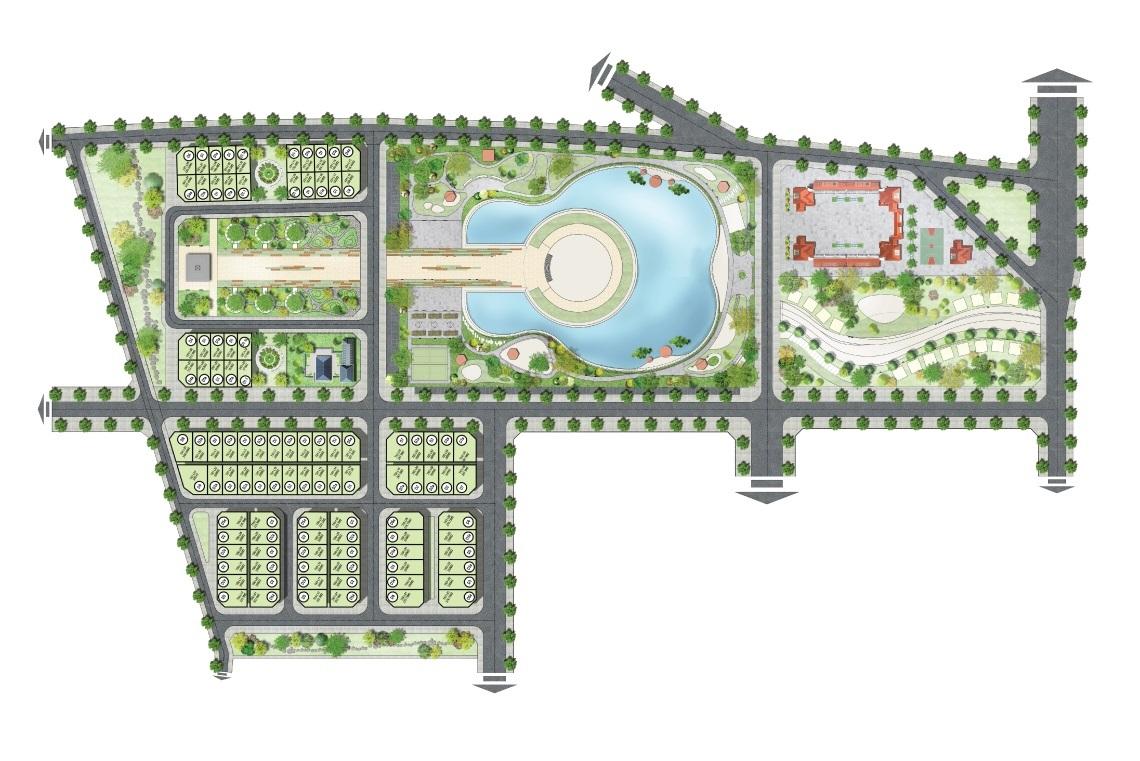 mặt bằng dự án sol lake villa đô nghĩa dương nội