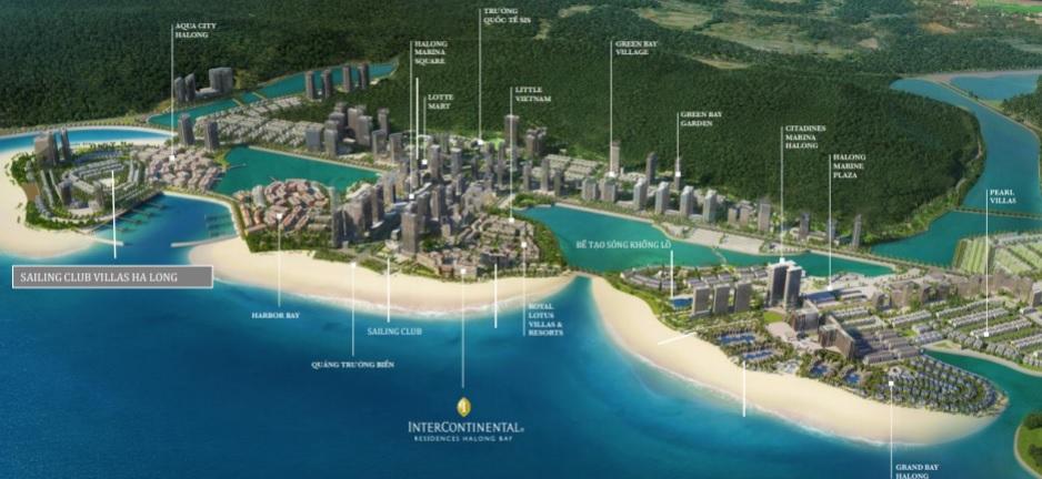 vị trí dự án sailing club residences hạ long