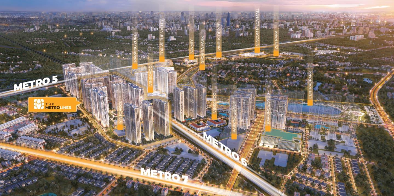 dự án the metrolines vinhomes smart city