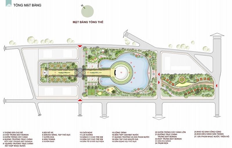tiện ích dự án sol lake villa đô nghĩa dương nội